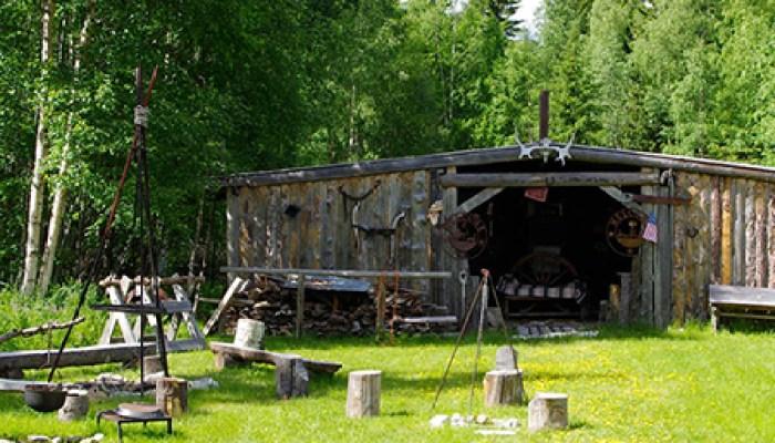 Big Moose Grillhut in old west style
