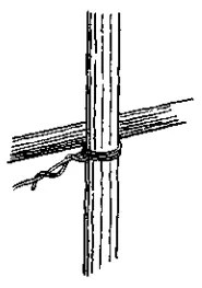 Square Lashing - secure rope to post