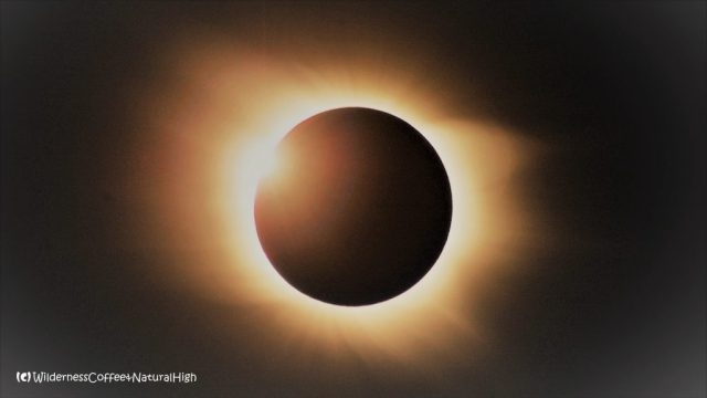 Solar eclipse, vortex of the universe