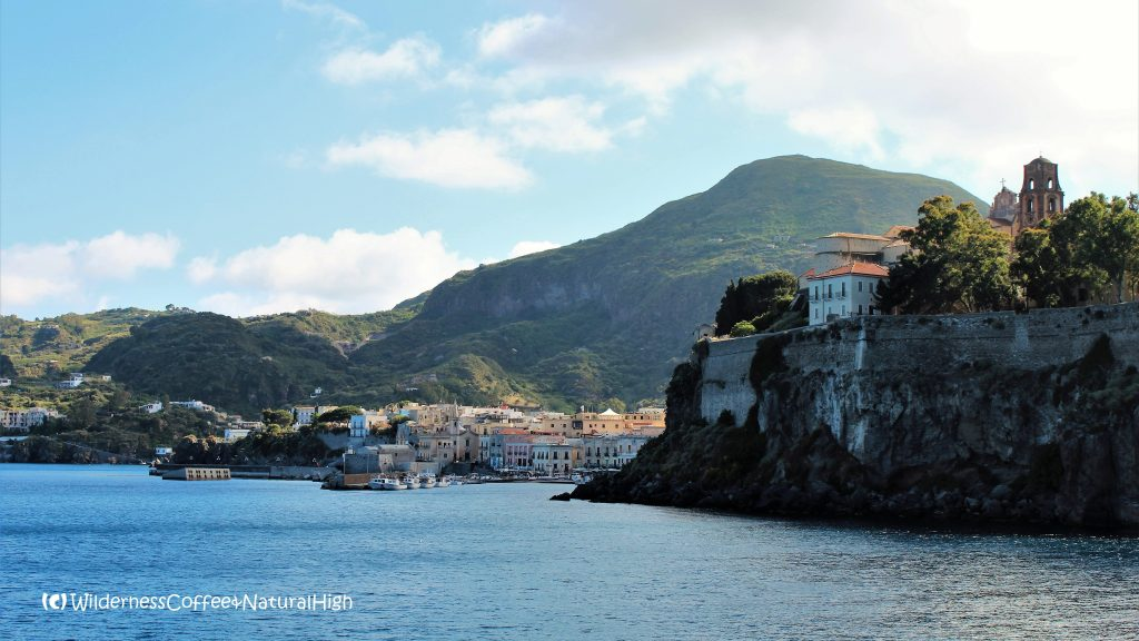 Lipari harbour, Aeolian Islands, Italy