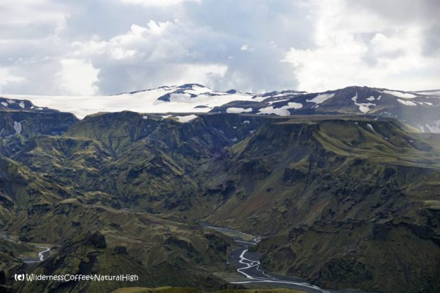 View to Katla and the valley of Þórsmörk, Iceland