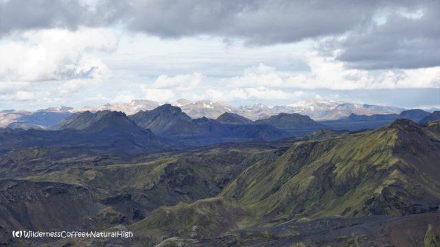 View towards Landmannalaugar from Mount Rjúpnafell, Þórsmörk, Iceland