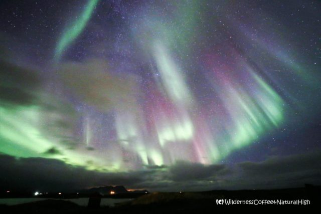 Northern lights filling up the sky, Snæfellsnes, Iceland