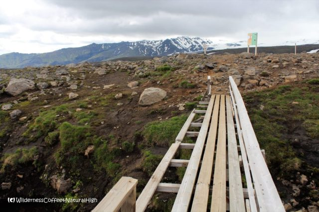 Bridge to Fimmvörðuháls, hiking route, Iceland
