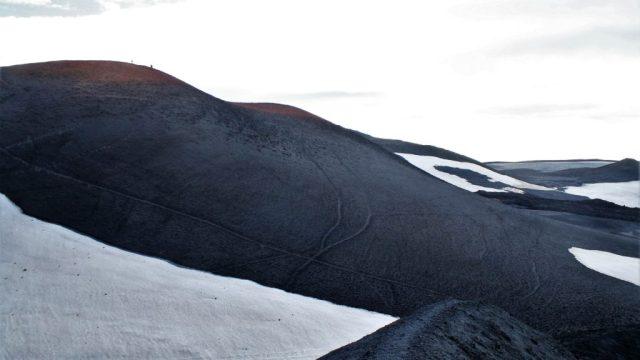 Magni crater, Eyjafjallajökull, Fimmvörðuháls walking route, Þórsmörk, Iceland