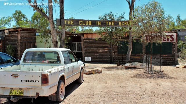 Club in the Scrub bush pub, The Grawin. Lightning Ridge, New South Wales, Australia