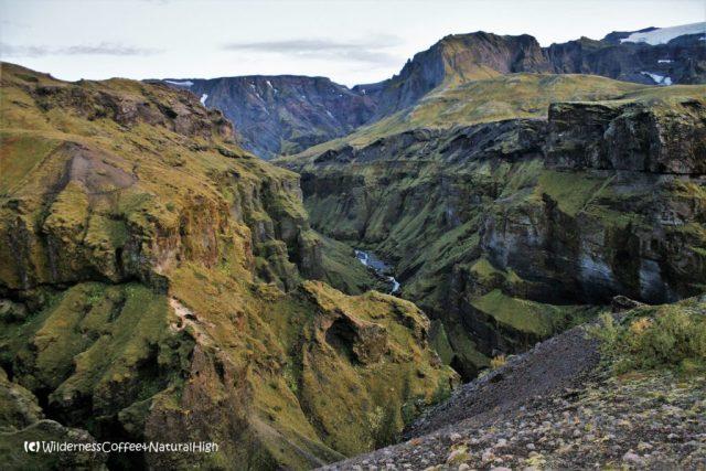 Hvannárgil canyon, Útigönguhöfði. Fimmvörðuháls walking route, Þórsmörk, Iceland