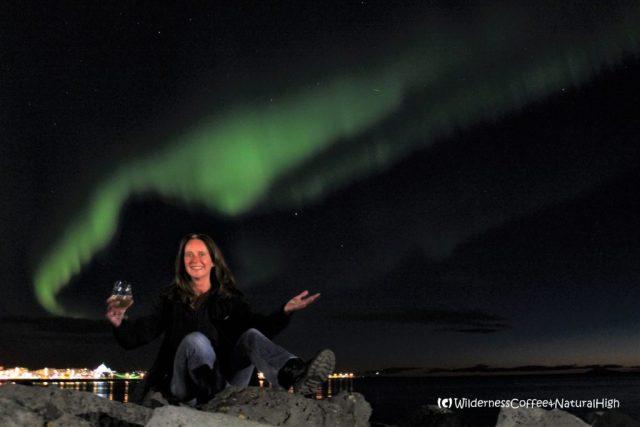 Skál to the northern lights, Reykjavík, Iceland
