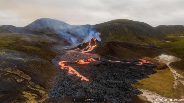 Geldingadalur volcano, Reyjkjanes, Iceland