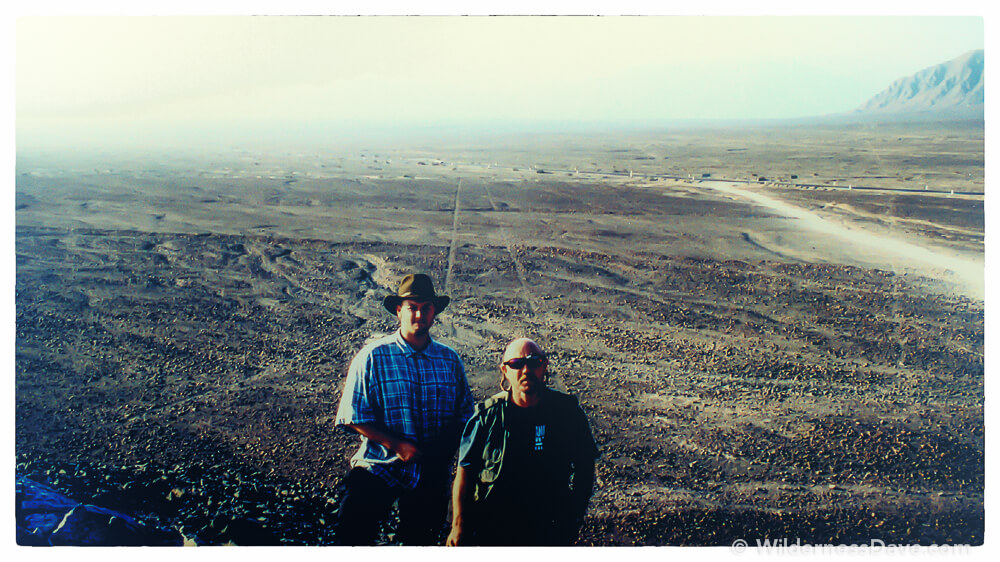 Dad and I near the Nazca Lines