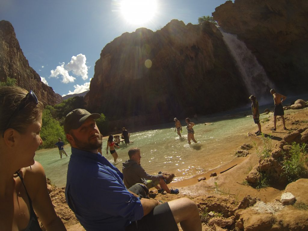 Hanging out at Havasupai Falls