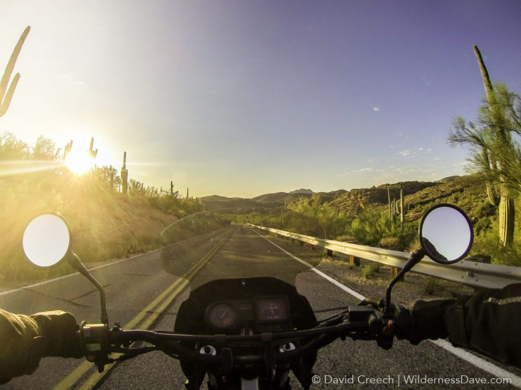 Riding the Bush Highway on the KLR