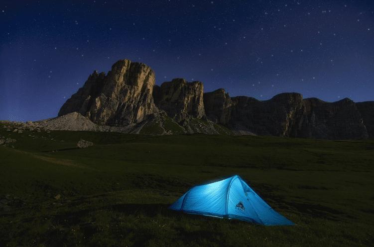 camp site night