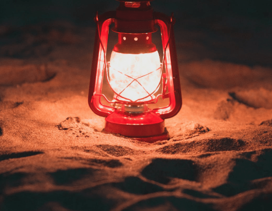 lamp in the ground