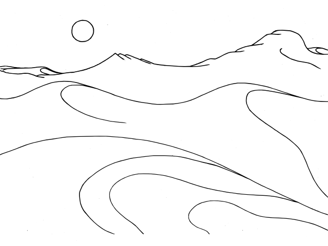 land and sea colouring pages
