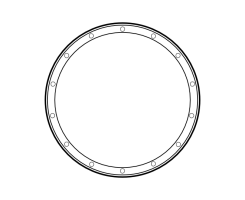 blank frame circles 12