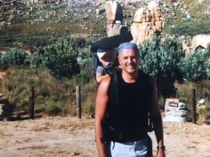 Fabian und Fridolin beim Auftstieg