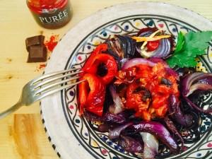 Balsamico-Gemüse mit Purée de Piment D'Espelette von Gewürze der Welt