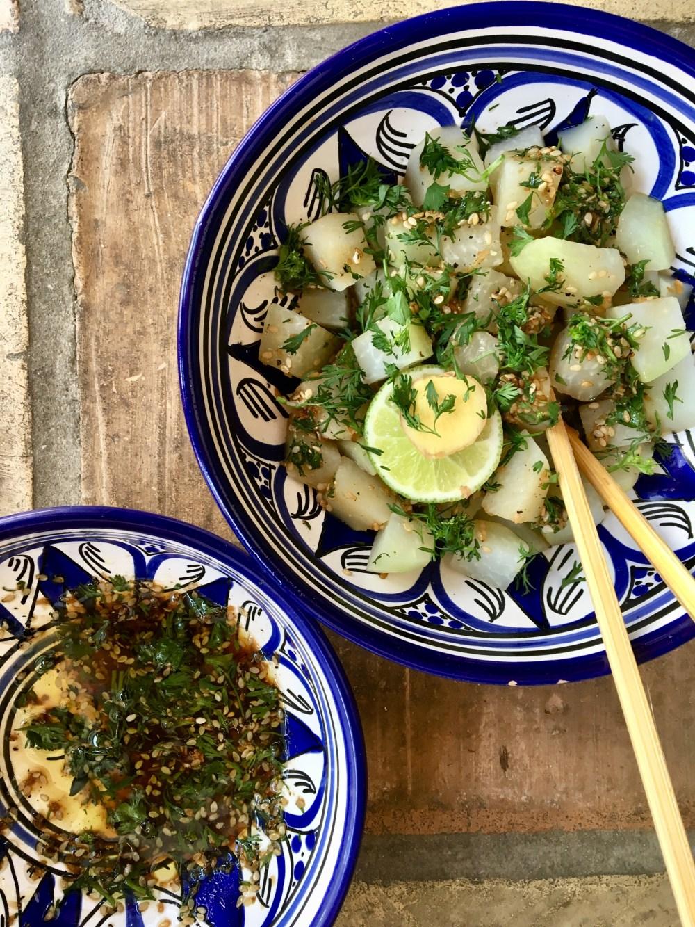 Kohlrabi asiatisch - Als Salat oder Gemüsebeilage