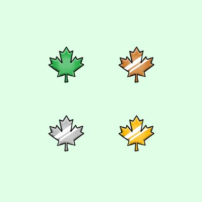 GreyLeaf Maple Leaf Twitch Affiliate Subscriber Badges