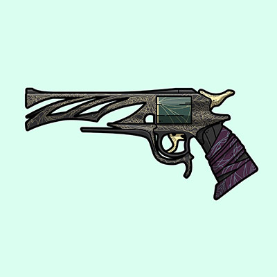 Destiny 2 Malfeasance hand cannon illustration designed by WildeThang
