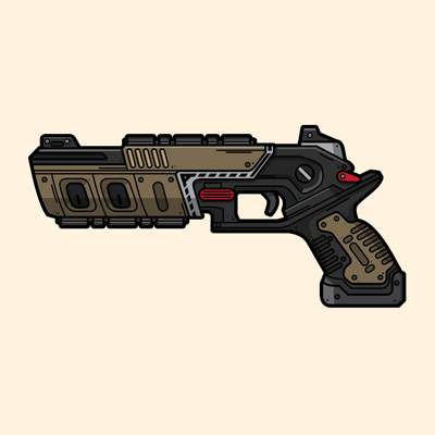Apex Legends Mozambique weapon illustration designed by WildeThang