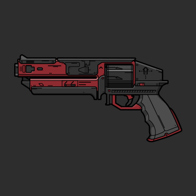 Destiny 2 Kindled Orchid hand cannon vector illustration designed by WildeThang