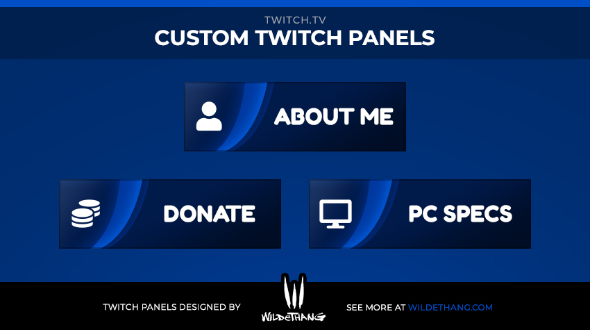 Miloszikic Custom Twitch Panels designed by WildeThang - Twitch Emote Artist