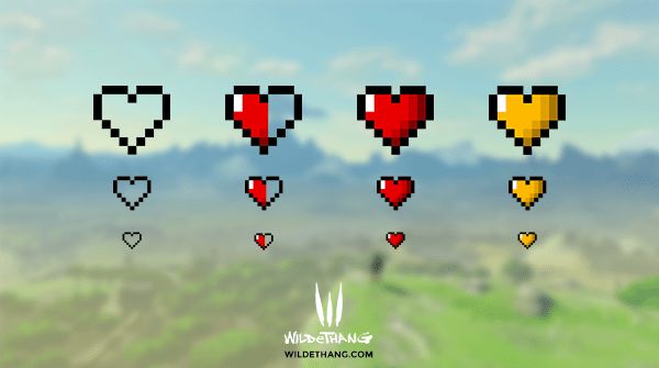 Pixel Heart Twitch Subscriber Badges
