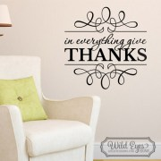 1 Thessalonians 5:18 Vinyl Wall Decal