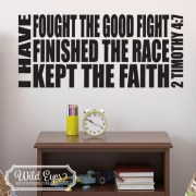 2 Timothy 4:7 Vinyl Wall Decal