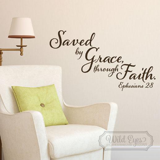 Ephesians 2:8 Vinyl Wall Decal 1