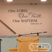 Ephesians 4:5 Vinyl Wall Decal