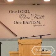 Ephesians 4:5 Vinyl Wall Decal
