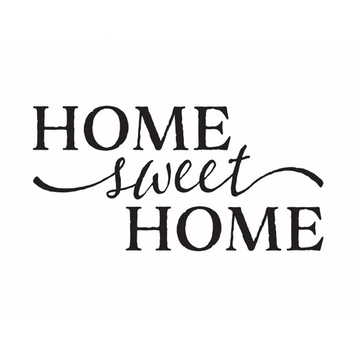 Home Sweet Home Vinyl Wall Decal by Wild Eyes Signs, Art