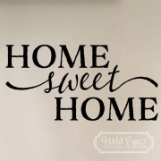 Home Sweet Home Vinyl Wall Decal