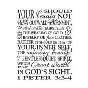 1 Peter 3:3-4 Vinyl Wall Decal version 2