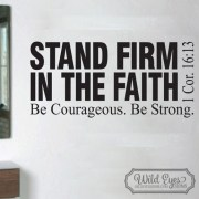 1 Corinthians 16v13 Vinyl Wall Decal version 1