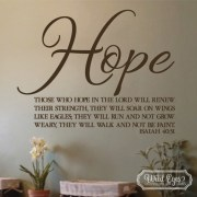 Isaiah 40v31 Vinyl Wall Decal 1