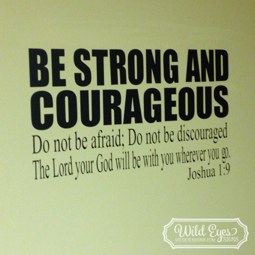 Joshua 1v9 Vinyl Wall Decal version 3
