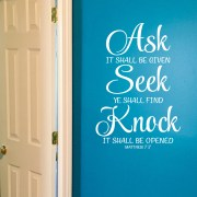 Matthew 7v7 Vinyl Wall Decal 1