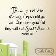 Proverbs 22v6 Vinyl Wall Decal 1