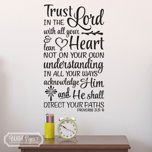 Proverbs 3:5-6 Vinyl Wall Decal