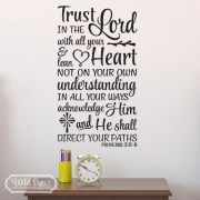 Proverbs 3:5-6 Vinyl Wall Decal