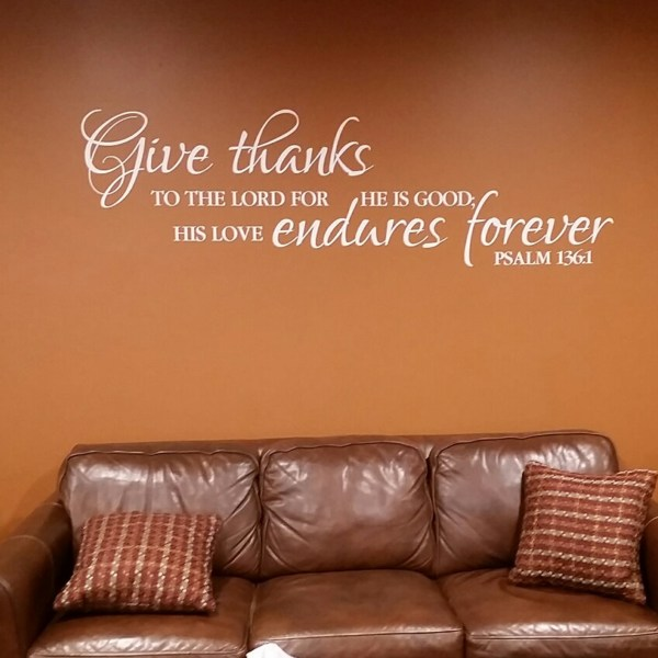 Psalm 136v1 Vinyl Wall Decal 1