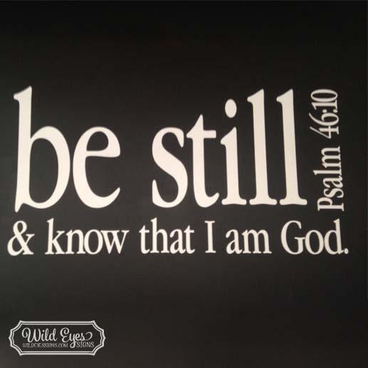 Psalm 46:10 Vinyl Wall Decal 2
