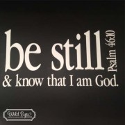 Psalm 46:10 Vinyl Wall Decal 2