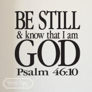 Psalm 46:10 Vinyl Wall Decal
