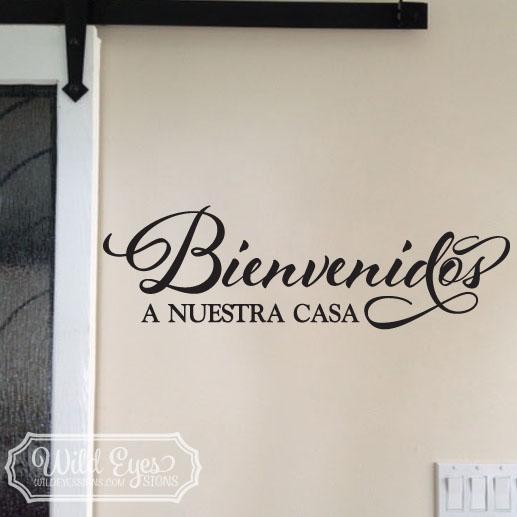 a Bienvenidos a Nuestra Casa Vinyl Wall Decal