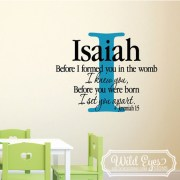 Jeremiah 1v5 Vinyl Wall Decal version 10